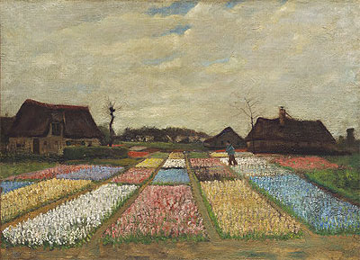 Flower Beds in Holland, c.1883 | Vincent van Gogh | Giclée Canvas Print