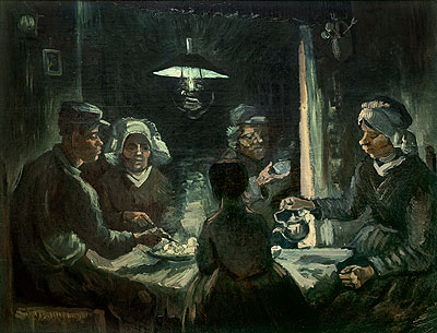 The Potatoes-Eater, 1885   Vincent van Gogh   Painting Reproduction