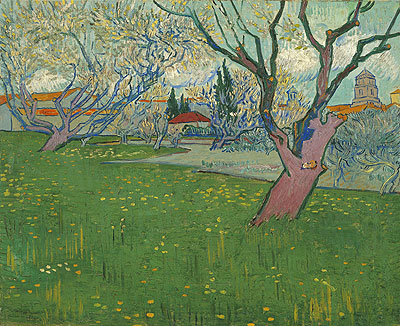 Orchards in Blossom, View of Arles, 1889 | Vincent van Gogh | Giclée Canvas Print