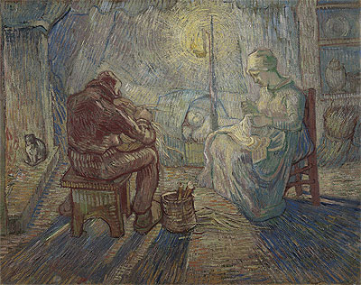 Night (after Millet), 1889 | Vincent van Gogh | Giclée Canvas Print