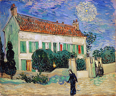 White House at Night, 1890 | Vincent van Gogh | Painting Reproduction