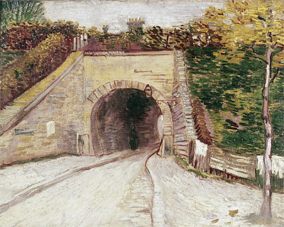Roadway wtih Underpass (Tunnel through Hillside), 1887 | Vincent van Gogh | Painting Reproduction
