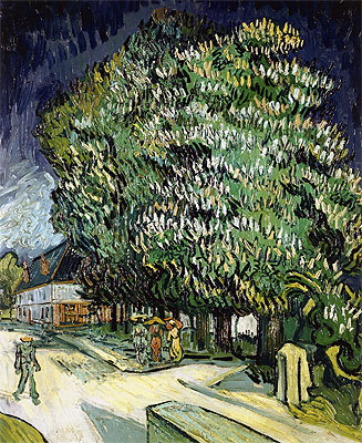 Vincent van Gogh | Chestnut Trees in Blossom, Auvers-sur-Oise, 1890 | Giclée Canvas Print