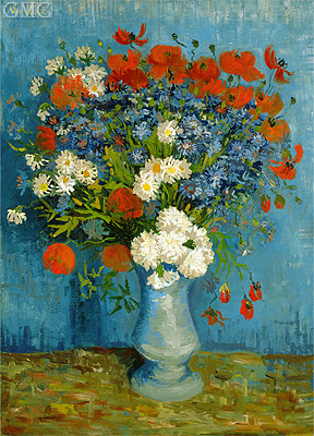 Vincent van Gogh | Vase with Cornflowers and Poppies, 1887 | Giclée Canvas Print