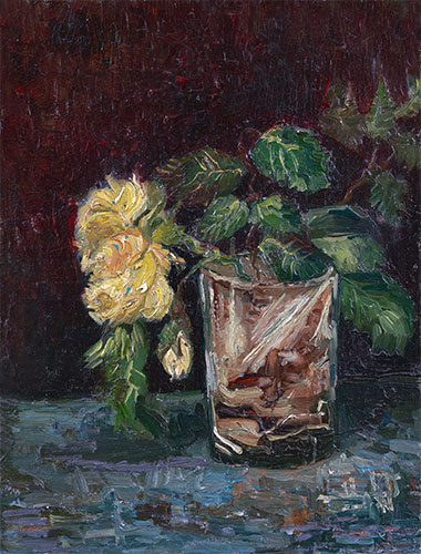 Glass with Yellow Roses, 1886 | Vincent van Gogh | Giclée Canvas Print