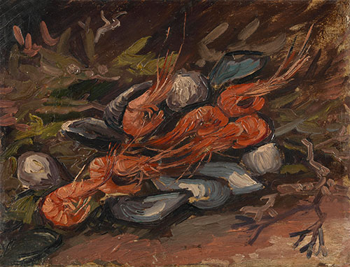 Prawns and Mussels, 1886 | Vincent van Gogh | Giclée Canvas Print