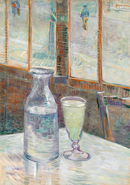 Cafe Table with Absinthe, 1887 | Vincent van Gogh | Giclée Canvas Print