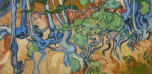 Tree Roots, 1890 | Vincent van Gogh | Painting Reproduction