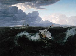 Washington Allston | Rising of a Thunderstorm at Sea, 1804 | Giclée Canvas Print