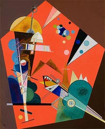 Kandinsky | Tension in Red | Giclée Canvas Print