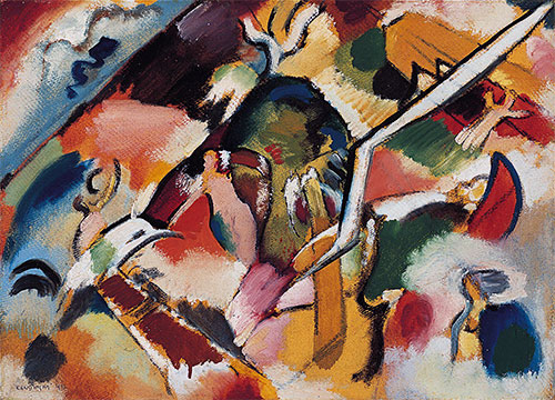 Kandinsky | Sketch for Deluge I, 1912 | Giclée Canvas Print