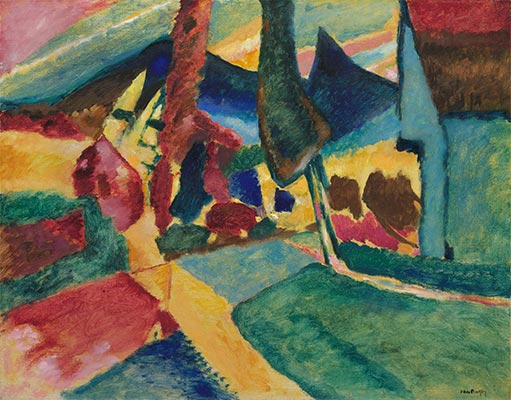Landscape with Two Poplars, 1912 | Kandinsky | Giclée Canvas Print