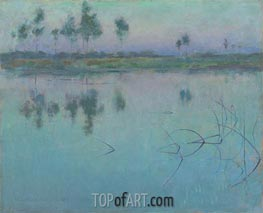 Willard Metcalf | Reflections, Grez-sur-Loing | Giclée Canvas Print