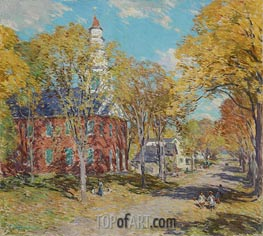 Willard Metcalf | October Morning: Deerfield, Mass | Giclée Canvas Print