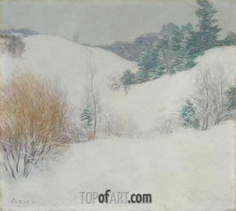Willard Metcalf | The White Pasture | Giclée Canvas Print