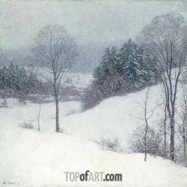 Willard Metcalf | The White Veil | Giclée Canvas Print