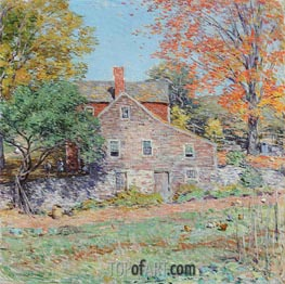 Willard Metcalf | Corner of the Garden | Giclée Canvas Print