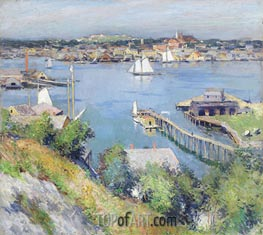 Willard Metcalf | Gloucester Harbor, 1895 | Giclée Canvas Print