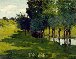 Willard Metcalf | Sunlight and Shadow, 1888 | Giclée Canvas Print