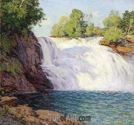 Willard Metcalf | The Waterfall, undated | Giclée Canvas Print