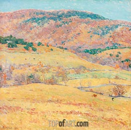 Willard Metcalf | Mountain Pastures - Vermont | Giclée Canvas Print
