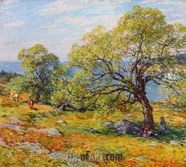 Willard Metcalf | A Seaside Pasture, 1910 | Giclée Canvas Print
