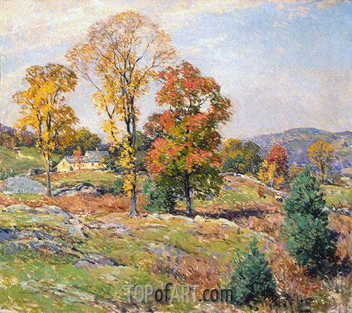 Willard Metcalf | The Approaching Festival, 1922 | Giclée Canvas Print