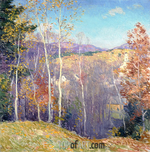 October Sunshine, 1923 | Willard Metcalf | Giclée Canvas Print