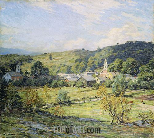 September Morning, Plainfield, New Hampshire, undated | Willard Metcalf | Painting Reproduction