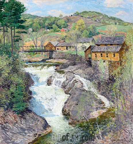 The Falls, c.1909/10 | Willard Metcalf | Giclée Canvas Print