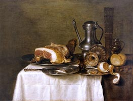 Claesz Heda | Still Life with Ham, 1649 | Giclée Canvas Print