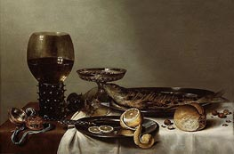 Claesz Heda | Still Life with a Roemer and Watch, 1629 | Giclée Canvas Print