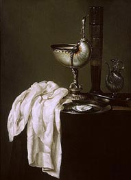Claesz Heda | Still Life with Nautilus Cup and Oyster | Giclée Canvas Print