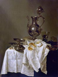 Claesz Heda | Still Life with Silver Ewer and Watch, 1643 | Giclée Canvas Print