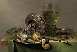 Claesz Heda | Still Life with a Tazza, Peeled Lemon and Roemer | Giclée Canvas Print