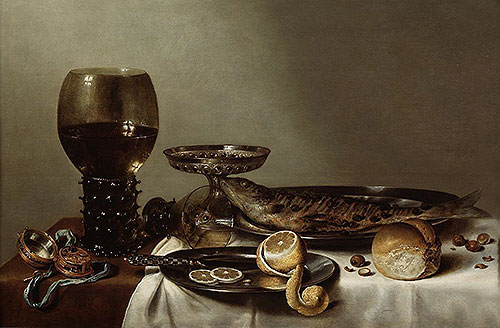 Still Life with a Roemer and Watch, 1629 | Claesz Heda | Giclée Canvas Print
