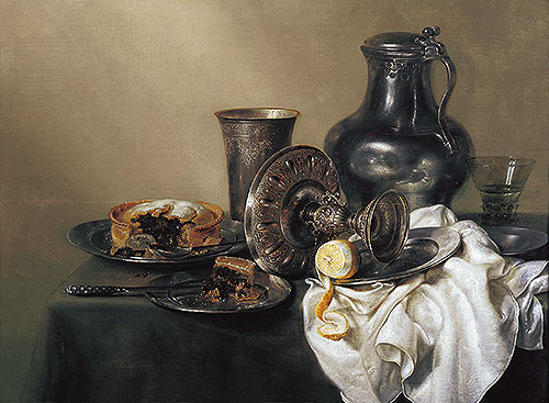 Still Life with Meat Pie, 1633   Claesz Heda   Painting Reproduction