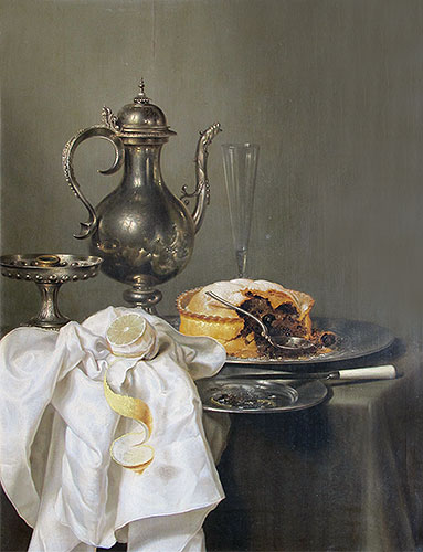 Still Life with Silver Ewer and Pie, 1645 | Claesz Heda | Giclée Canvas Print