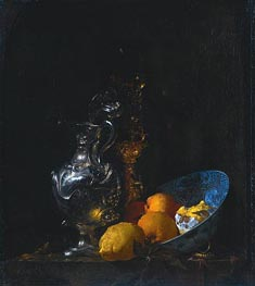 Willem Kalf | Still Life with Silver Jug, c.1655/57 | Giclée Canvas Print