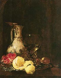 Willem Kalf | Still Life with Delft Jug, 1653 | Giclée Canvas Print