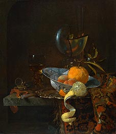 Willem Kalf | Still Life with Porcelain Bowl and Nautilus Cup, 1660 | Giclée Canvas Print