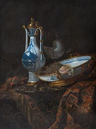 Willem Kalf | Still Life with Ewer and Basin, Fruit and Nautilus Cup, c.1660 | Giclée Canvas Print