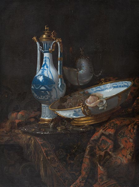 Still Life with Ewer and Basin, Fruit and Nautilus Cup, c.1660 | Willem Kalf | Giclée Canvas Print
