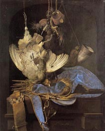 Willem van Aelst | Still Life with Hunting Equipment and Dead Birds, 1668 | Giclée Canvas Print