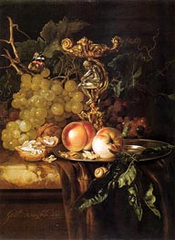 Willem van Aelst | Still Life of Fruits | Giclée Canvas Print