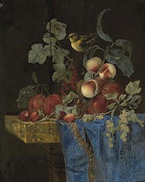 Willem van Aelst | Still Life with Fruits and a Finch | Giclée Paper Print