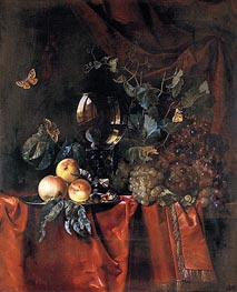 Willem van Aelst | Fruit and a Glass of Wine | Giclée Canvas Print