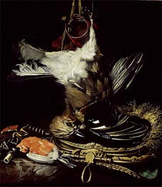 Willem van Aelst | Still Life with a dead Jay, Undated | Giclée Canvas Print