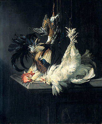 Still Life with Poultry, 1658   Willem van Aelst   Painting Reproduction