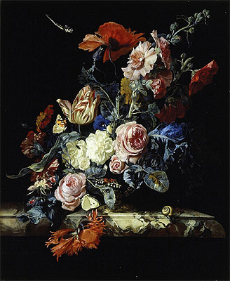 A Vase of Flowers, 1663 | Willem van Aelst | Painting Reproduction